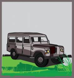 Land rover vector