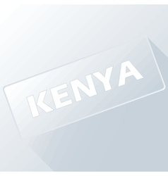 Kenya unique button vector