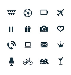 Entertainment icons set vector