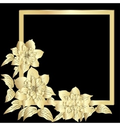 Gold terry clematis vector