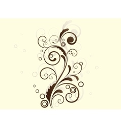 Abstract floral background with swirls vector