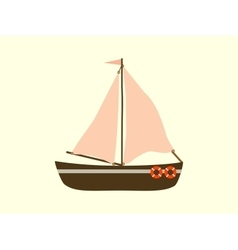 Sailing yacht sea transport vector