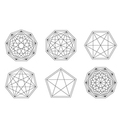 Set of geometric hipster shapes1q vector