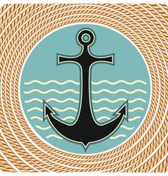 nautical anchor symbol vector image