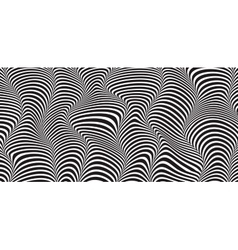 Wave striped textured vector