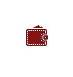 Wallet web icon vector