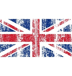 British grunge flag vector