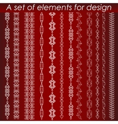 Calligraphic design elements set vector image vector image