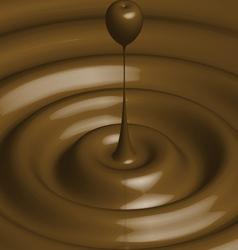 Chocolate ripple vector