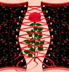 corset and rose vector image vector image