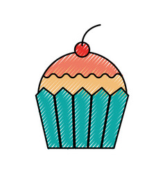 cupcake dessert pastry product food fresh vector image vector image