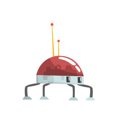 Cute cartoon robot spider character vector