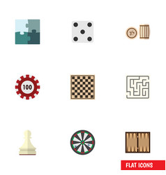 flat icon play set of labyrinth chess table vector image vector image