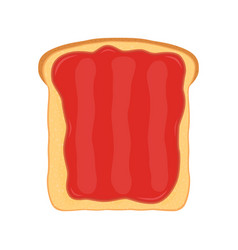 Fried bread toast strawberry jam jelly paste vector