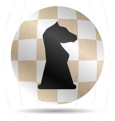 Icon chess knight vector image