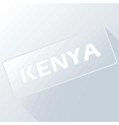 Kenya unique button vector