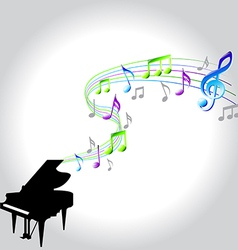 note piano vector image