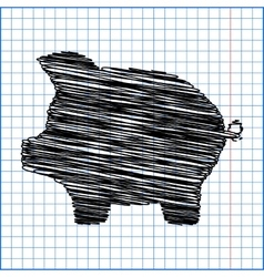 Pig money bank vector