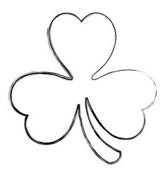 saint patrick clover icon vector image vector image