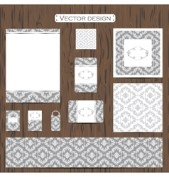 Set of eleven decorative ornamental business vector image vector image