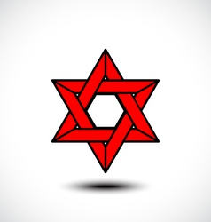 The star of David abstract design element vector image vector image