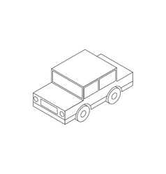 Toy car icon isometric 3d style vector image