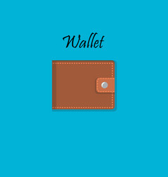 Wallet for money and credit cards vector