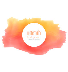 watercolor stain grunge in yellow and red shade vector image vector image