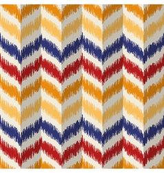 Seamless geometric pattern ikat fabric style vector