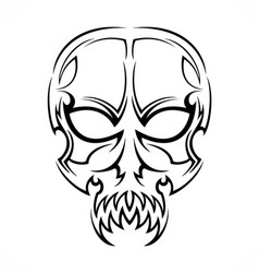 Tribal skull tattoo design vector