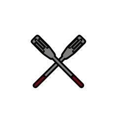 Fishing flat icon Paddle vector image