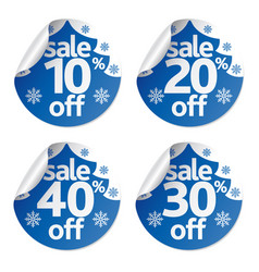 Christmas sale stickers set vector