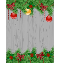 Christmas card with decorated christmas tree vector