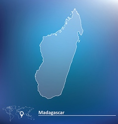 Map of madagascar vector