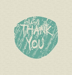 Thank you hand draw card vector