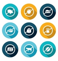 Russian restrictions on imports and exports icons vector