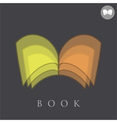 Book logo concept sign vector