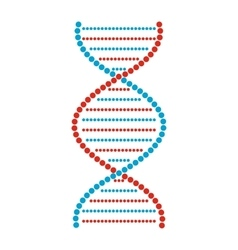 Flat dna and molecule sign vector