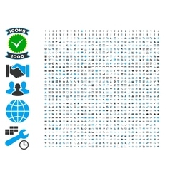 Collection of 1000 flat icons vector