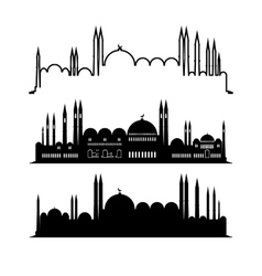 Set of mosque sketches city design vector