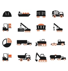 Industrial simply icons vector