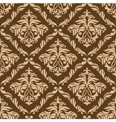 Retro brown seamless background vector
