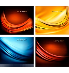 set of neon abstact backgrounds vector image