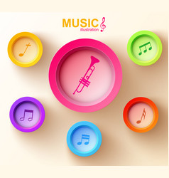 Abstract music design concept vector