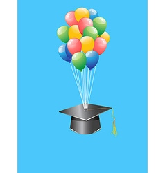 Balloon graduation cap vector