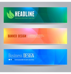 Banners template vector image vector image