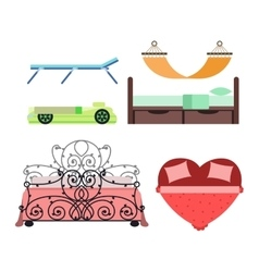 bed icon isolated vector image vector image