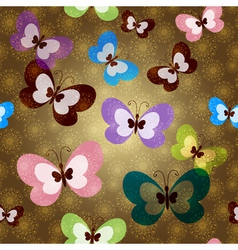 Brown seamless spring pattern vector
