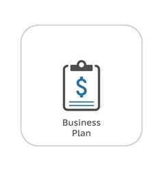 Business Plan Icon Business Concept Flat Design vector image vector image