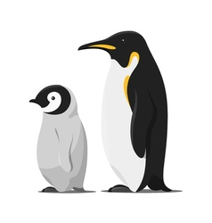cartoon style of penguins vector image vector image